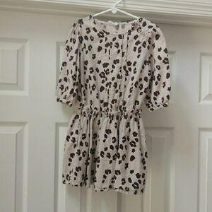 Crazy 8 gray leopard print summer dress or tunic